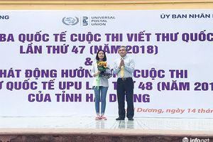 Trao giải Ba Quốc tế Cuộc thi Viết thư UPU năm 2018 cho học sinh tại Hải Dương