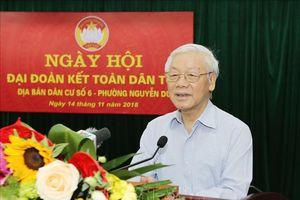 Tổng Bí thư, Chủ tịch nước Nguyễn Phú Trọng tham dự Ngày hội Đại đoàn kết toàn dân tộc tại nơi cư trú