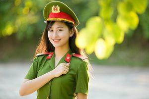 Trọn bộ ảnh diện quân phục của 'bông hồng thép' Học viện Cảnh sát vừa đăng quang Hoa khôi Imiss Thăng Long