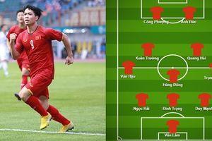 Đội hình lý tưởng theo sơ đồ 3-5-2 của ĐT Việt Nam trước ĐT Malaysia