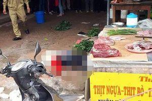 Hiện trường vụ bắn chết cô gái bán đậu ngay tại chợ ở Hải Dương