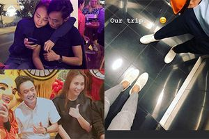 Soi gu thời trang ăn ý của cặp đôi Đàm Thu Trang - Cường Đô la