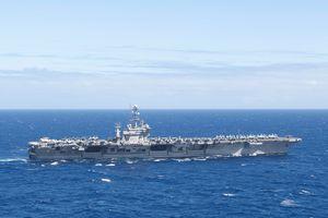 Hai tàu sân bay Mỹ huấn luyện tác chiến ở vùng biển Philippines