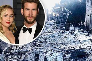 Liam Hemsworth tung ảnh biệt thự sống cùng Miley Cyrus bị cháy thành tro