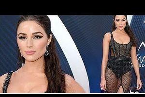 Hoa hậu hoàn vũ Olivia Culpo váy xuyên thấu lộ nội y táo bạo