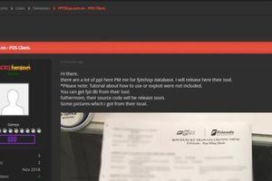 Sau Thế giới Di động, tới lượt FPTShop bị hacker 'chôm' dữ liệu khách hàng?