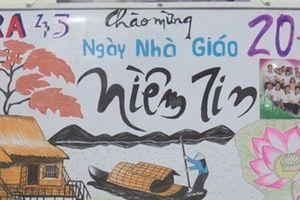 Ngày Nhà giáo Việt Nam: Những vật liệu làm báo tường đẹp mà tiện ích