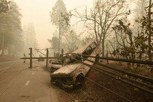 Cảnh tượng kinh hoàng người phụ nữ lái xe trong đám cháy rừng