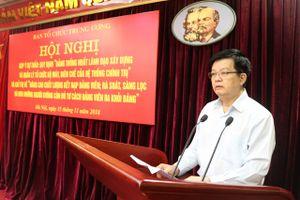Hội nghị góp ý vào dự thảo 2 đề án của Ban Tổ chức Trung ương