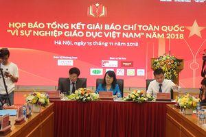 43 tác phẩm đạt giải Báo chí toàn quốc 'Vì sự nghiệp Giáo dục Việt Nam' năm 2018