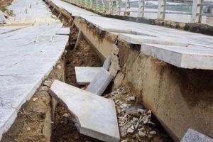 Sau 20/11, sẽ tiến hành khắc phục hiện tượng sụt lún kè đê hữu sông Mã