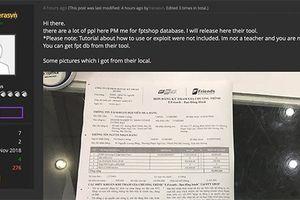Vụ hacker tung thông tin khách hàng của FPT Shop: Tập tin có chứa mã độc