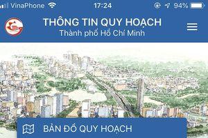 Người dân TP.HCM dễ dàng xem quy hoạch qua điện thoại