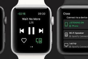 Ứng dụng nghe nhạc Spotify 'cập bến' Apple Watch với trái tim trên màn hình