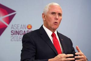 Mike Pence phát biểu về tự do hàng hải và hàng không ở Biển Đông