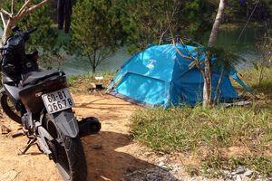 'Phượt thủ' dựng lều trong khu vực hồ Tuyền Lâm rồi đi... cướp giật
