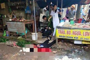 Công an Hải Dương thông tin vụ cô gái bán đậu bị bắn, chém tử vong ở chợ