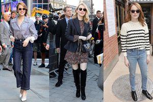 Có cả 'núi' đồ hiệu nhưng Emma Stone chỉ mặc thế này thôi là đẹp ngất rồi