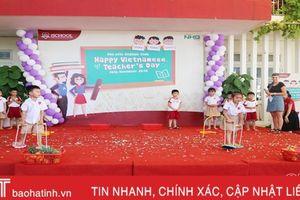 'Happy Teacher's day' ở Trường Mầm non iSchool Hà Tĩnh