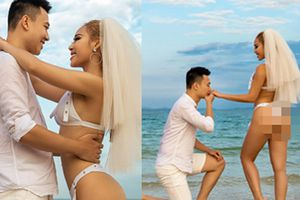 Thêm bộ ảnh cưới gây xôn xao khi cô dâu chịu chơi mặc bikini khoe trọn vòng 3 nóng bỏng