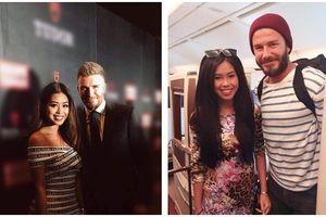 Khoe ảnh chụp chung với David Beckham, hot girl Thảo Tiên khiến dân mạng hết lòng ghen tỵ