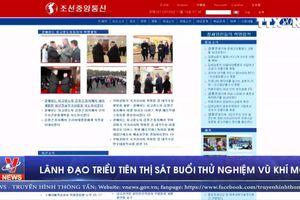 Lãnh đạo Triều Tiên thị sát buổi thử nghiệm vũ khí mới