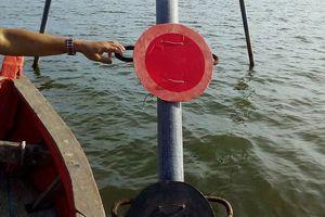 Đã khắc phục biển cảnh báo trên đầm Thị Nại