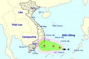 Áp thấp nhiệt đới gây mưa dông mạnh ở Nam Trung Bộ, Tây Nguyên và Nam Bộ