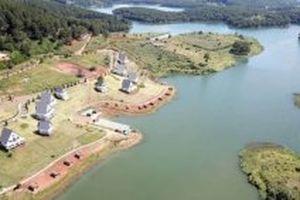 Đã di dời các công trình xâm phạm danh thắng quốc gia hồ Tuyền Lâm