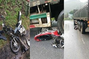 Xe container mất phanh khi lao dốc gây tai nạn kinh hoàng
