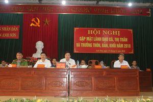 Anh Sơn: Gặp mặt lãnh đạo huyện với 21 xã, thị trấn trên địa bàn