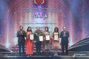 43 tác phẩm đạt giải Báo chí toàn quốc 'Vì sự nghiệp Giáo dục Việt Nam'