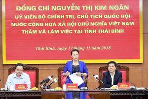 Chủ tịch Quốc hội: Đề nghị Thái Bình tiếp tục sắp xếp lại bộ máy, đẩy mạnh cải cách hành chính
