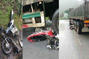 Xe container đột ngột mất lái tông liên hoàn 4 xe máy khiến 6 người thương vong