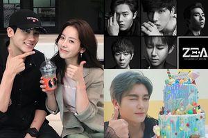 'Chị đẹp' Han Ji Min và các thành viên ZE:A chúc mừng sinh nhật Park Hyung Sik