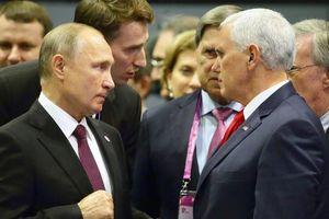 Biểu cảm nghiêm khác thường của phó tổng thống Mỹ khi gặp ông Putin