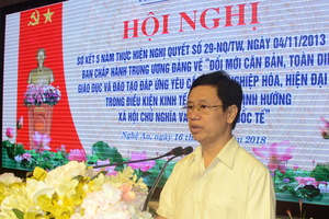 Nghệ An: Sơ kết 5 năm thực hiện Nghị quyết số 29-NQ/TW