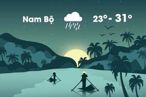 Thời tiết ngày 18/11: Nam Bộ mưa lớn, dông mạnh vì bão số 8