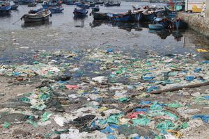 Rác ngập đảo Bình Ba