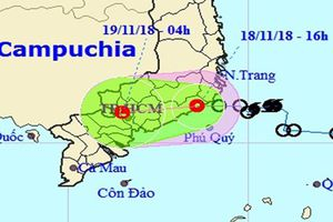 Áp thấp nhiệt đới gây mưa lớn cho khu vực Nam Bộ từ đêm nay