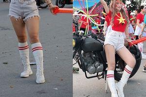 Thêm nàng hotgirl khiến người hâm mộ thất vọng tràn trề khi để lộ đôi chân như giò heo