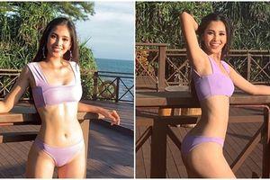 Trần Tiểu Vy diện bikini khoe đường cong bốc lửa không hề thua chị kém em tại Miss World 2018
