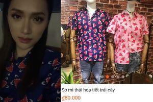 Fan 'ngã ngửa' khi biết giá chiếc áo sơ mi cực cute của hoa hậu Hương Giang