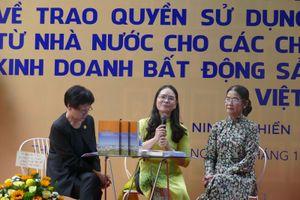 Ra mắt sách về luật sử dụng đất ở Việt Nam