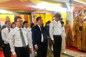 Đoàn UBTƯ MTTQ Việt Nam viếng Trưởng lão Hòa thượng Thích Hiển Pháp