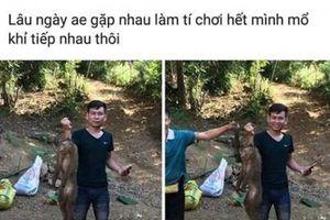 Nam thanh niên giết khỉ rừng dã man rồi đăng Facebook khoe chiến tích