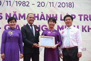 Trường Nguyễn Thị Minh Khai nhận Nhãn hiệu LabelFranceEducation