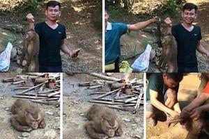 Dân mạng bức xúc trước hành vi khoe ảnh giết thịt khỉ trên facebook