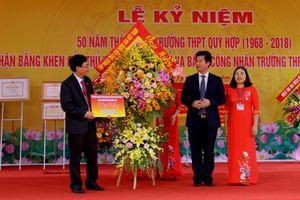 Lãnh đạo PVN thăm và tặng quà trường THPT Quỳ Hợp, Nghệ An