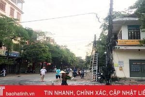Nhiều đường dây điện trên đường Đặng Dung bị cháy